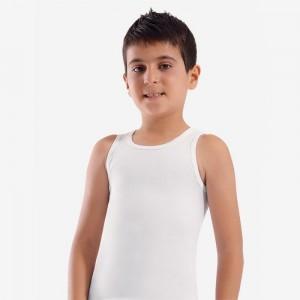 Біла майка для хлопчиків Oztas A-3010