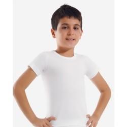 Біла футболка для хлопчиків Oztas A-3011