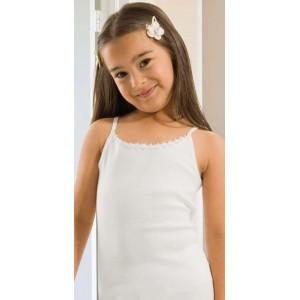 Белая майка для девочек Oztas A-4012