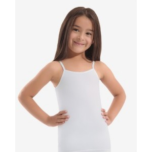 Белая майка для девочек Oztas A-4010