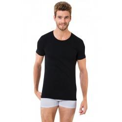 Чорна чоловіча футболка Oztas A-1005