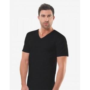 Черная мужская футболка Oztas A-1008