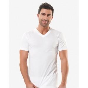 Белая мужская футболка Oztas A-1013