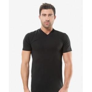 Чорна чоловіча футболка Oztas A-1017