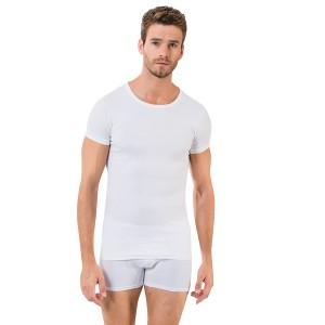 Белая мужская футболка Oztas A-1048