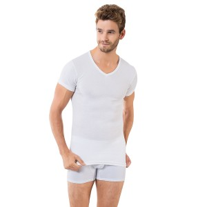 Белая мужская футболка Oztas A-1049