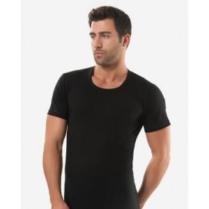 Черная мужская футболка Oztas A-1005