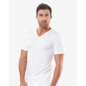Біла чоловіча футболка Oztas A-1042