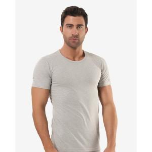 Мужская футболка Oztas A-1051 (серый, темно-серый)