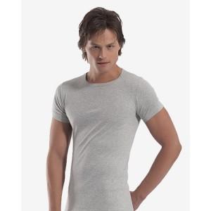 Мужская футболка Oztas A-1060 (серый, темно-серый)