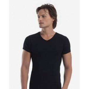 Черная мужская футболка Oztas A-1061