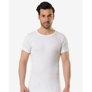 Мужская футболка Oztas A-1073 (белый, серый, темно-серый, черный)