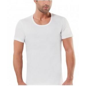 Белая мужская футболка Oztas A-1091